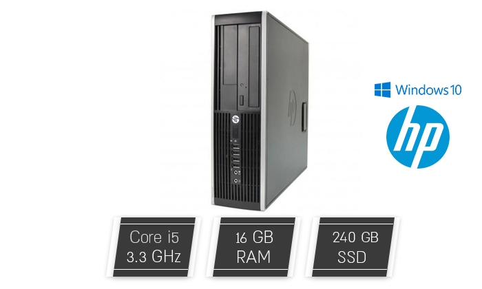 2 מחשב נייח מחודש HP דגם 6300 עם זיכרון 16GB ומעבד i5