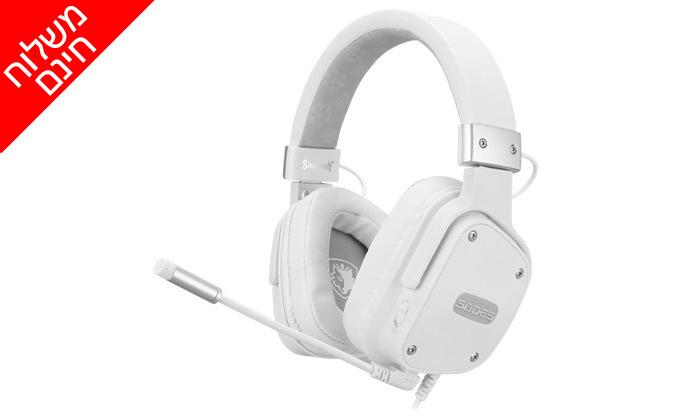 2 אוזניות גיימינג SADES, דגם Snowwolf Stereo - משלוח חינם