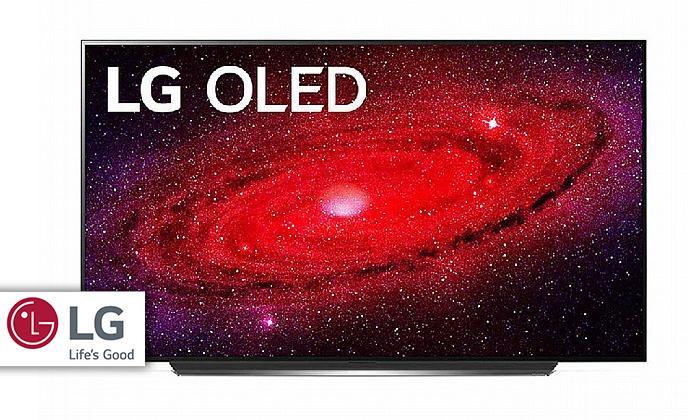 2 טלוויזיה חכמה 55 אינץ' LG דגםOLED55CX