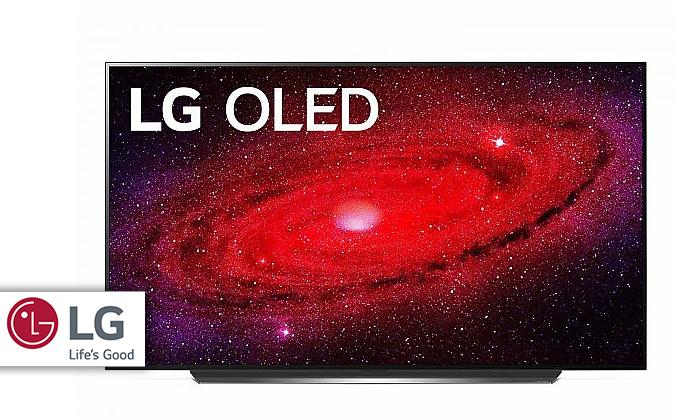 2 טלוויזיה חכמה 77 אינץ' LG דגםOLED 77CX
