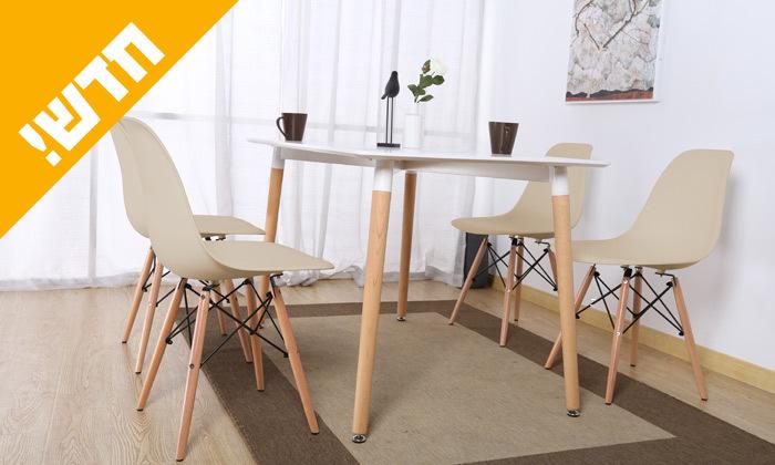 2 פינת אוכל הכוללת שולחן דגם לרנקה ו-4 כיסאות דגם בארי