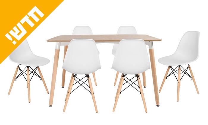 14 פינת אוכל הכוללת שולחן דגם לרנקה ו-4 כיסאות דגם בארי