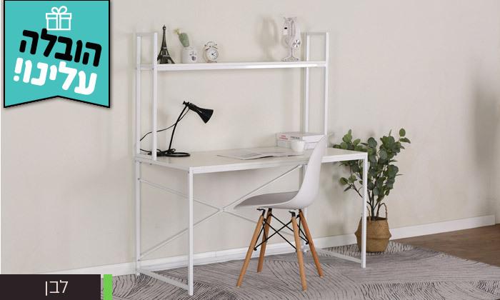 3 שולחן כתיבה עם מדףHOMAXדגם קולומביין 1260A - משלוח חינם