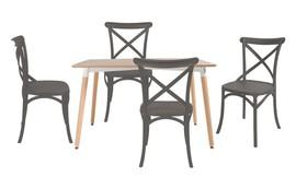 שולחן לרנקה ו-4 כיסאות סיינה