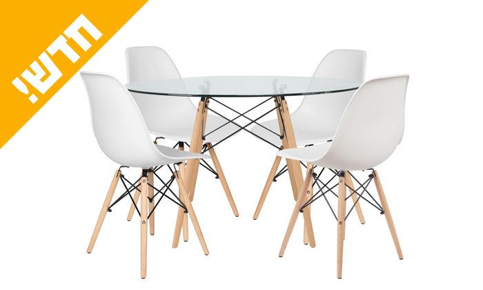 2 פינת אוכל הכוללת שולחן דגם דה וינצ'י ו-4 כיסאות דגם בארי