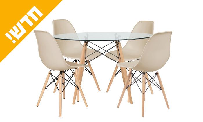 11 פינת אוכל הכוללת שולחן דגם דה וינצ'י ו-4 כיסאות דגם בארי