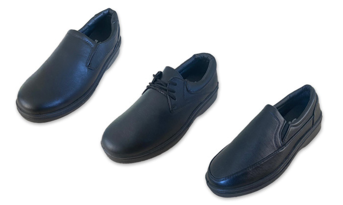 2 2 זוגות נעליים שחורות לגברים במבחר דגמים