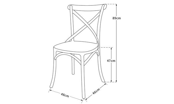 7 כיסא אוכל מפלסטיק במגוון צבעים לבחירה, דגם סיינה