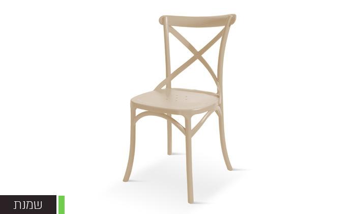 3 כיסא אוכל מפלסטיק במגוון צבעים לבחירה, דגם סיינה