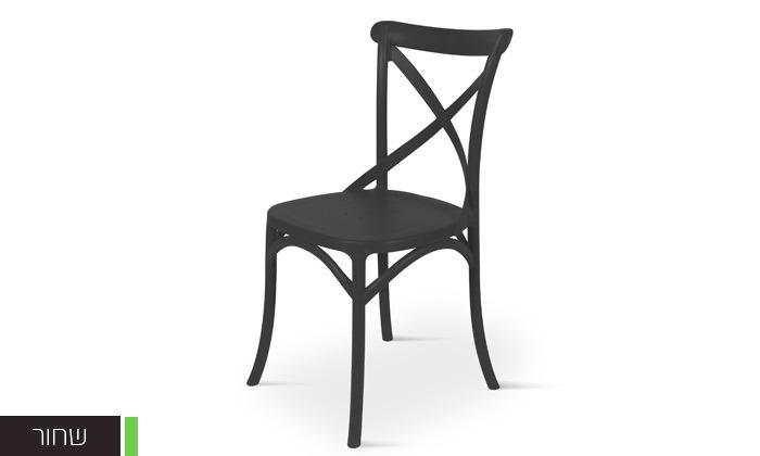 4 כיסא אוכל מפלסטיק במגוון צבעים לבחירה, דגם סיינה