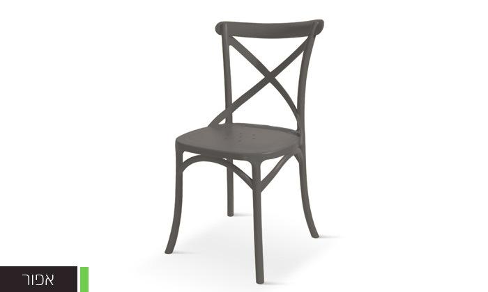 5 כיסא אוכל מפלסטיק במגוון צבעים לבחירה, דגם סיינה