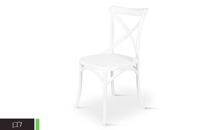 6 כיסא אוכל מפלסטיק במגוון צבעים לבחירה, דגם סיינה