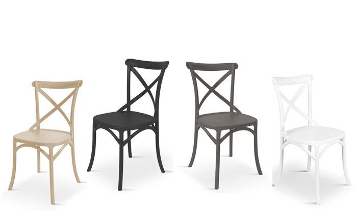 2 כיסא אוכל מפלסטיק במגוון צבעים לבחירה, דגם סיינה