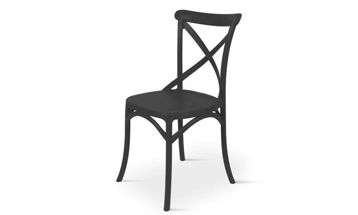 8 כיסא אוכל מפלסטיק במגוון צבעים לבחירה, דגם סיינה