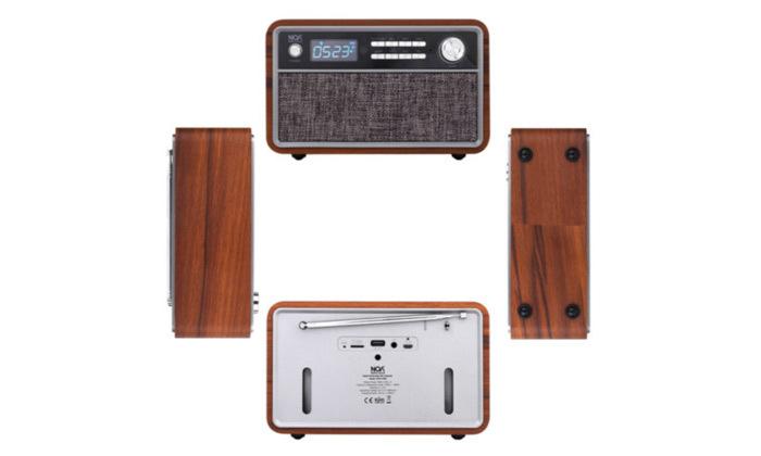 4 רמקול רדיו Bluetooth בעיצוב רטרו דגם NOA sound box V300