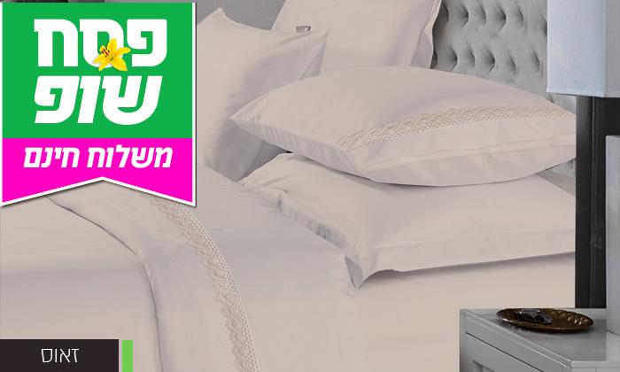5 סט מצעים 100% כותנה פרקל למיטה זוגית - משלוח חינם