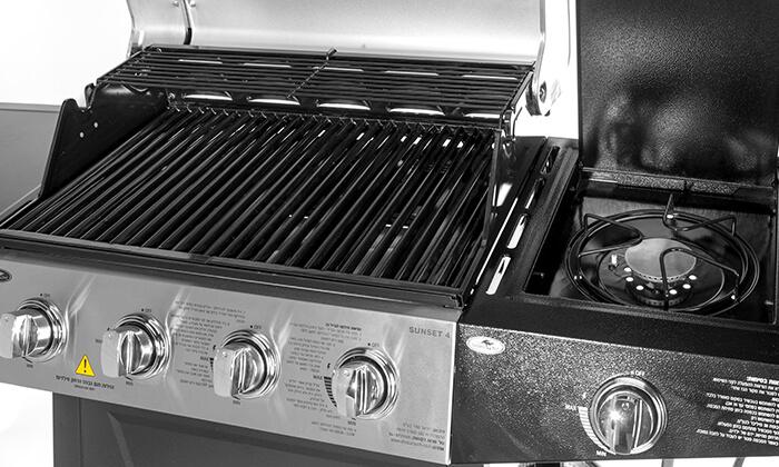 5 גריל גז 4 מבערים Australia Chef כולל גריל מורכב