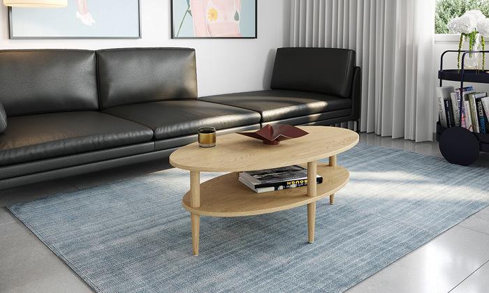 2 שולחן סלון אליפטי במגוון צבעים לבחירה - משלוח חינם