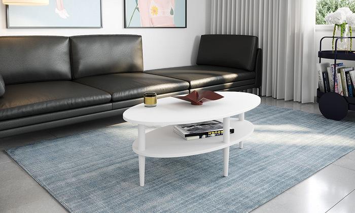 4 שולחן סלון אליפטי במגוון צבעים לבחירה - משלוח חינם