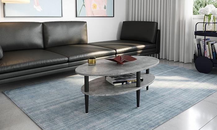 3 שולחן סלון אליפטי במגוון צבעים לבחירה - משלוח חינם