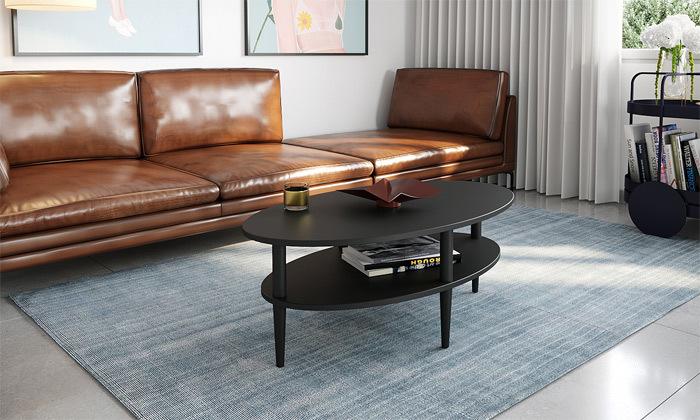 5 שולחן סלון אליפטי במגוון צבעים לבחירה - משלוח חינם
