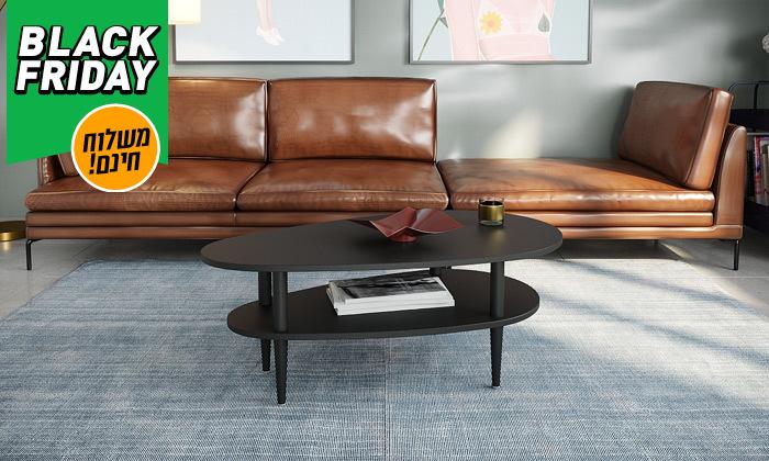 3 שולחן סלון בצורת טיפה בצבע שחור או לבן לבחירה - משלוח חינם