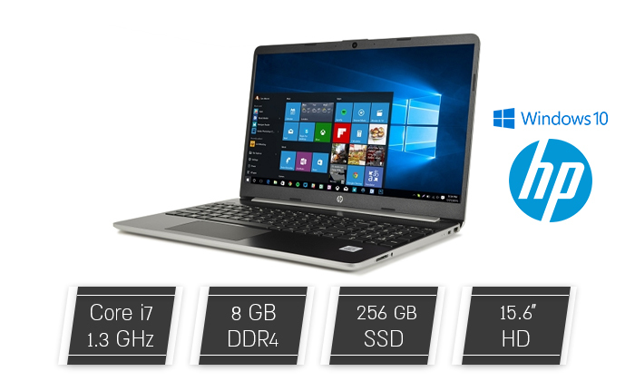 """2 מחשב נייד מוחדש HP דגם 15-DY1071 עם מסך """"15.6, זיכרון 8GB ומעבד i7"""