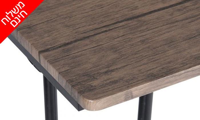 6 שולחן כתיבה מעץ עם רגלי מתכת בשני צבעים לבחירה - משלוח חינם