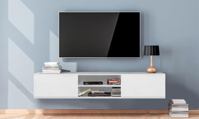 2 מזנון טלוויזיה צף 1.80 מטר TUDO DESIGN