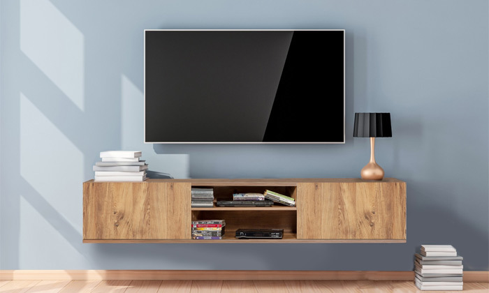 4 מזנון טלוויזיה צף 1.80 מטר TUDO DESIGN