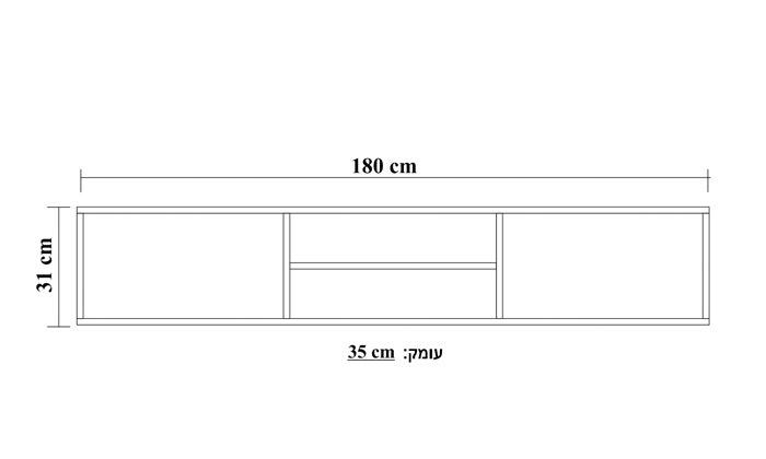 3 מזנון טלוויזיה צף 1.80 מטר TUDO DESIGN