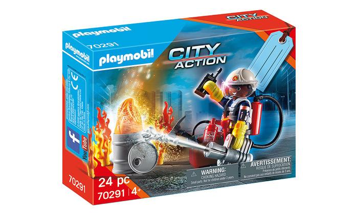 2 פליימוביל playmobil: סט משחק כיבוי אש - 24 חלקים