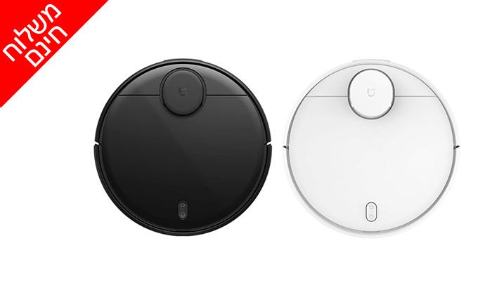 2 שואבאבק שוטף רובוטי שיאומי Xiaomi,דגםMi Robot Vacuum Mop Pro - משלוח חינם