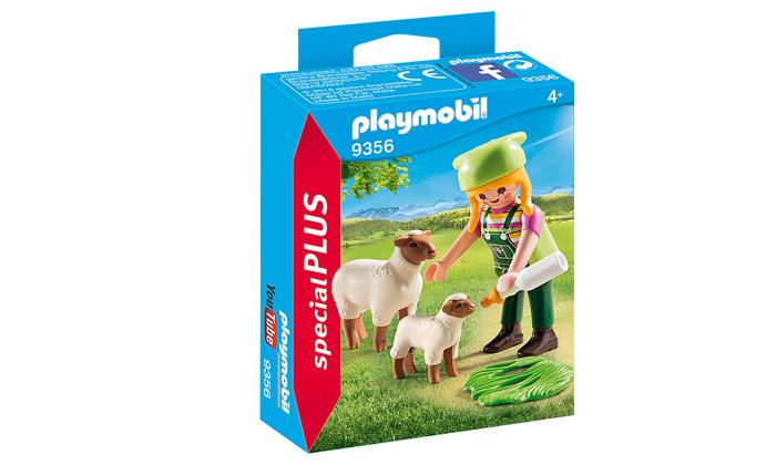 2 פליימוביל playmobil: חקלאי וכבשים - 5 חלקים