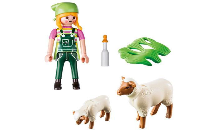 3 פליימוביל playmobil: חקלאי וכבשים - 5 חלקים