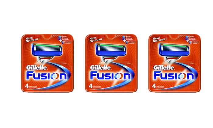 2 מארז 12 סכיני גילוח ג'ילט פיוז'ן Gillette Fusion