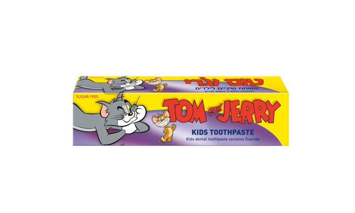 3 מארז 10 יחידות משחת שיניים לילדים טום וג'רי
