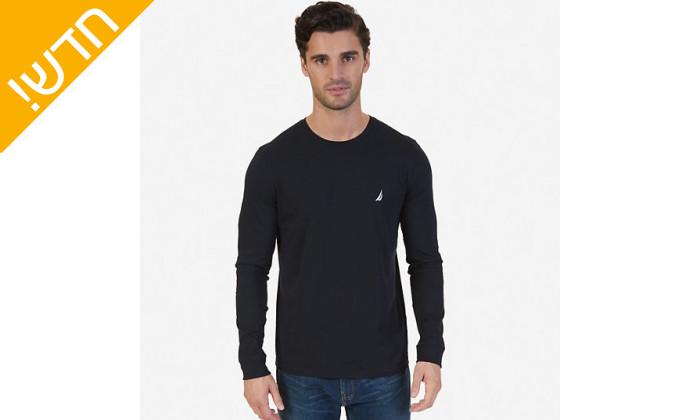 3 חולצה טי שירט נאוטיקה ארוכהלגבריםNautica