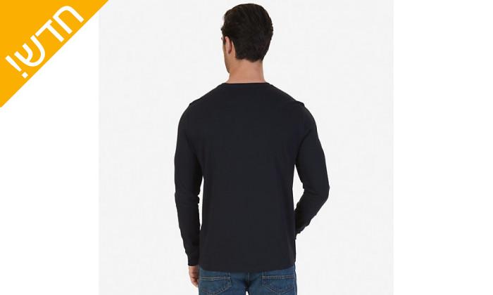 5 חולצה טי שירט נאוטיקה ארוכהלגבריםNautica