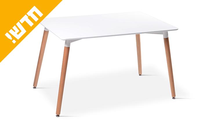 3 שולחן אוכל עם רגלי עץ ומשטח בצבע לבחירה