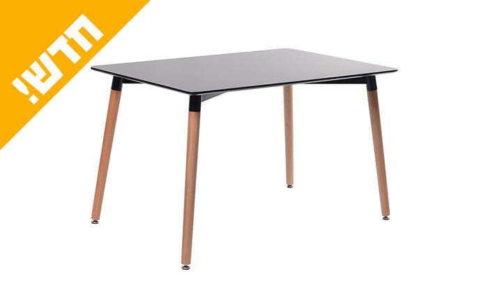 5 שולחן אוכל עם רגלי עץ ומשטח בצבע לבחירה