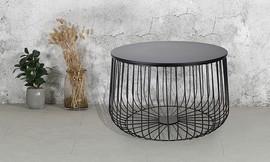 שולחן סלון עגול ממתכת