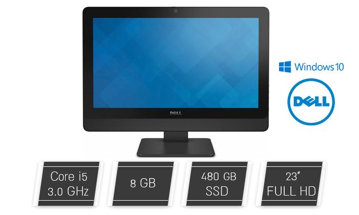 """2 מחשב נייח DELL AIO עם מסך """"23, מעבד i5 ומצלמה, כולל מקלדת ועכבר"""