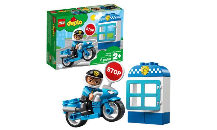 2 לגו דופלו LEGO duplo: אופנוע משטרה