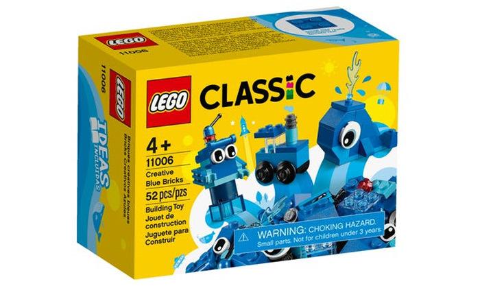 2 לגו LEGO: לבנים כחלות