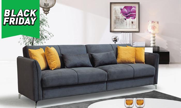2 ספה תלת מושבית נפתחת למיטה רחבה Or Design דגם קורל