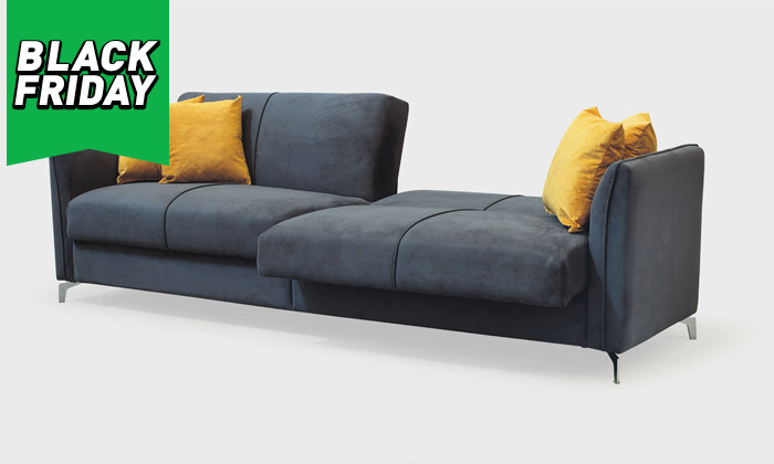 4 ספה תלת מושבית נפתחת למיטה רחבה Or Design דגם קורל