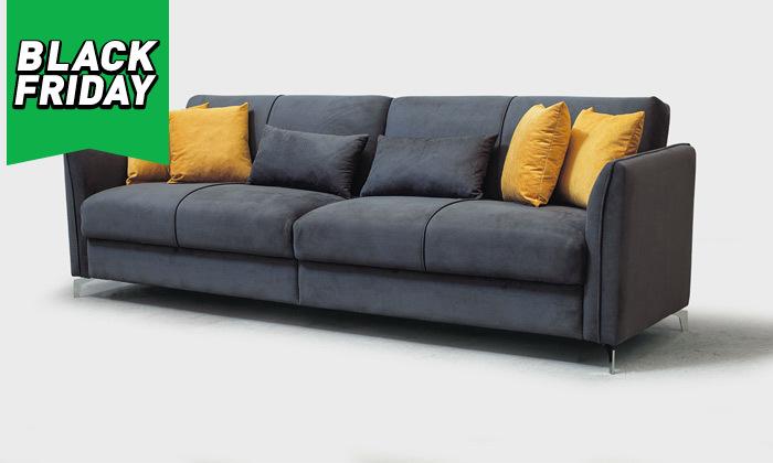 6 ספה תלת מושבית נפתחת למיטה רחבה Or Design דגם קורל