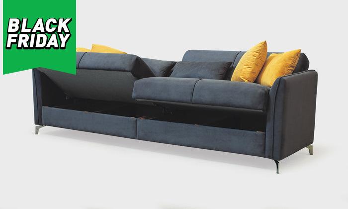 3 ספה תלת מושבית נפתחת למיטה רחבה Or Design דגם קורל
