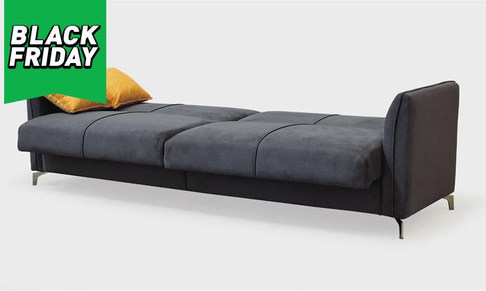 5 ספה תלת מושבית נפתחת למיטה רחבה Or Design דגם קורל
